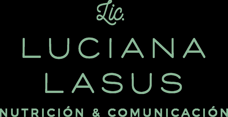 logo luciana lasus licenciada en nutrición y comunicación